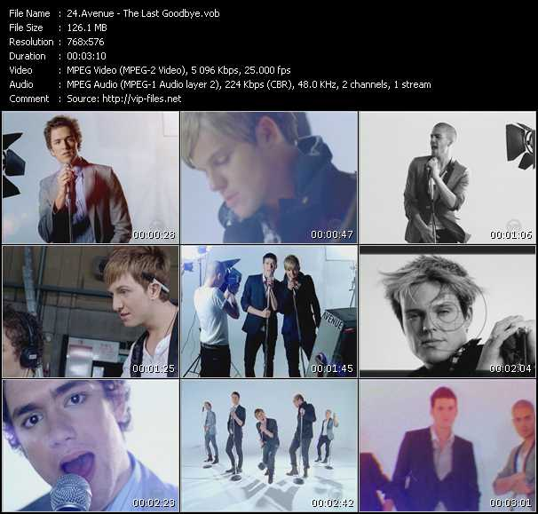 Screenshot of Music Video Avenue - The Last Goodbye