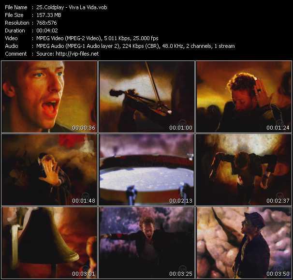 Screenshot of Music Video Coldplay - Viva La Vida