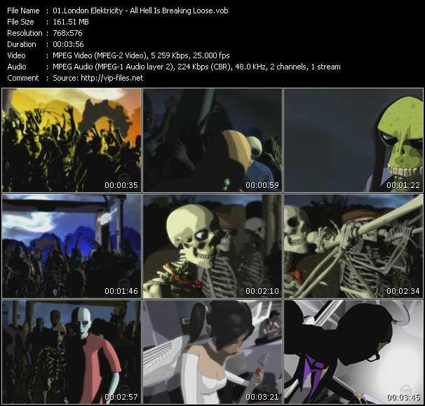 Screenshot of Music Video London Elektricity - All Hell Is Breaking Loose
