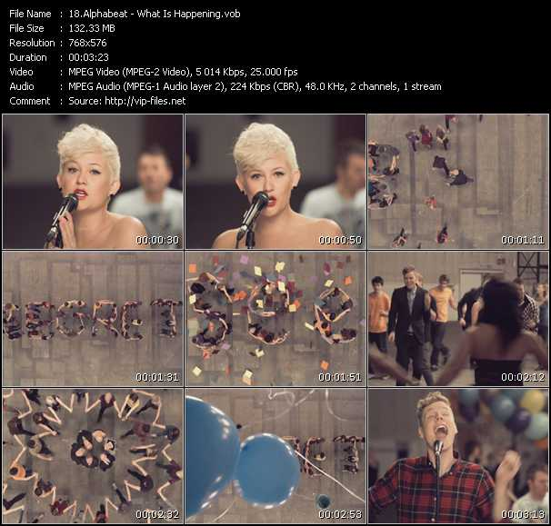 Screenshot of Music Video Alphabeat - What Is Happening?