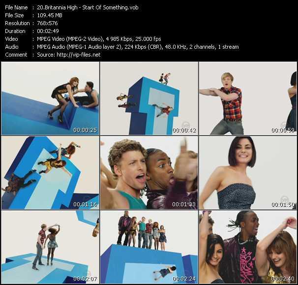 Screenshot of Music Video Britannia High - Start Of Something