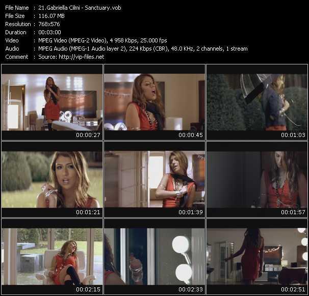 Screenshot of Music Video Gabriella Cilmi - Sanctuary