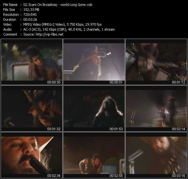 Screenshot of Music Video Scars On Broadway - World Long Gone
