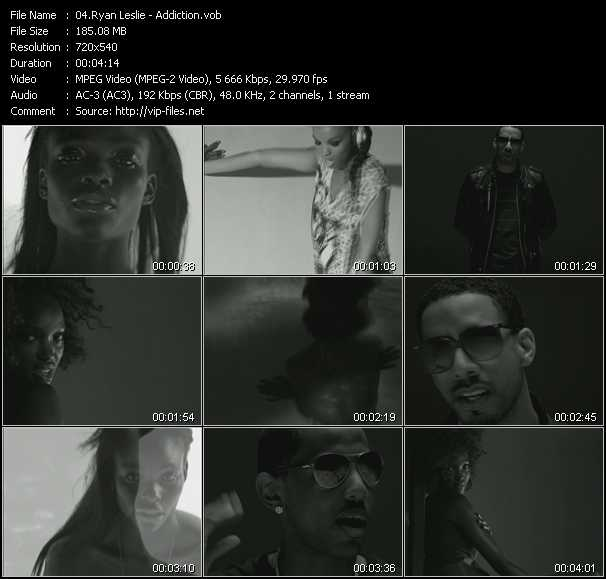 Screenshot of Music Video Ryan Leslie - Addiction