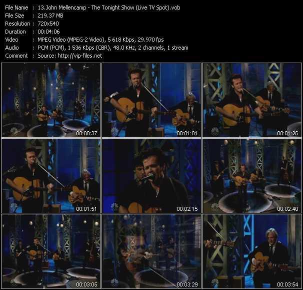 Screenshot of Music Video John Cougar Mellencamp - The Tonight Show (Live TV Spot)