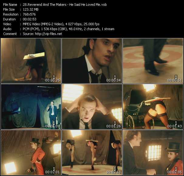 Screenshot of Music Video Reverend And The Makers - He Said He Loved Me