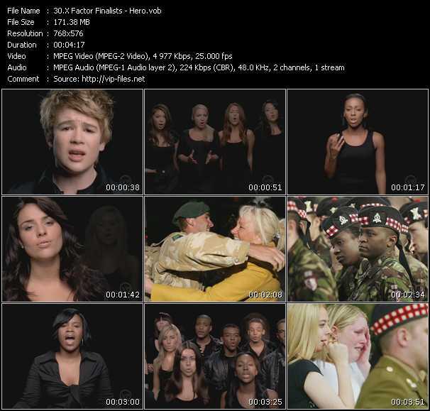 X-Factor Finalists video vob