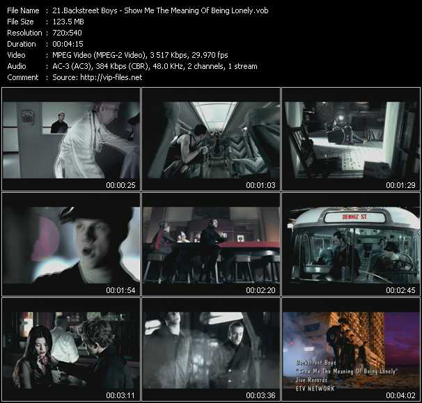 Backstreet Boys видеоклип vob