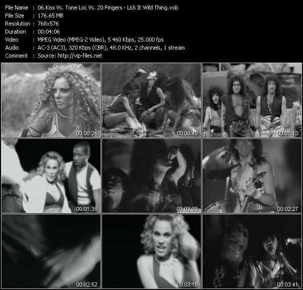 Kiss Vs. Tone Loc Vs. 20 Fingers video vob