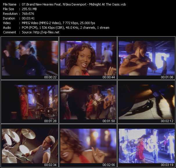 Screenshot of Music Video Brand New Heavies Feat. N'dea Davenport - Midnight At The Oasis