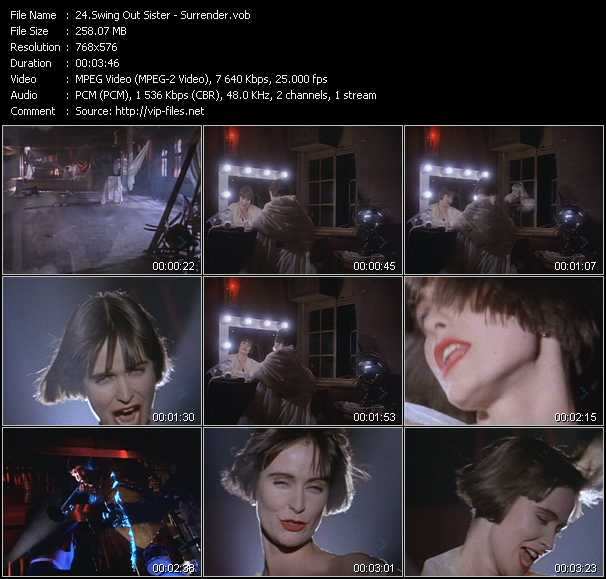 Swing Out Sister video vob