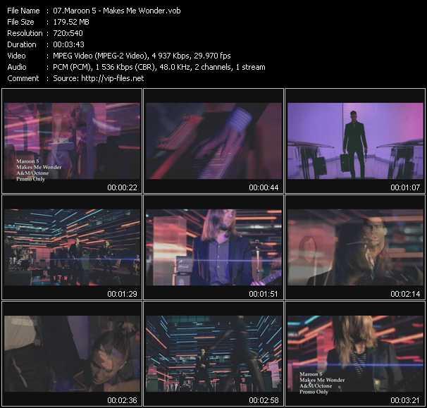 Maroon 5 видеоклип vob