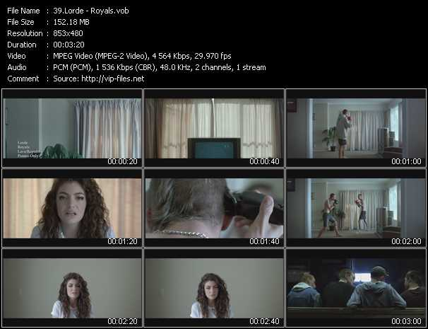Lorde video vob