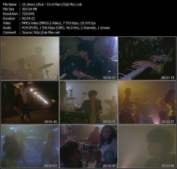 Screenshot of Music Video Jimmy Lifton - I'm A Man (Club Mix)