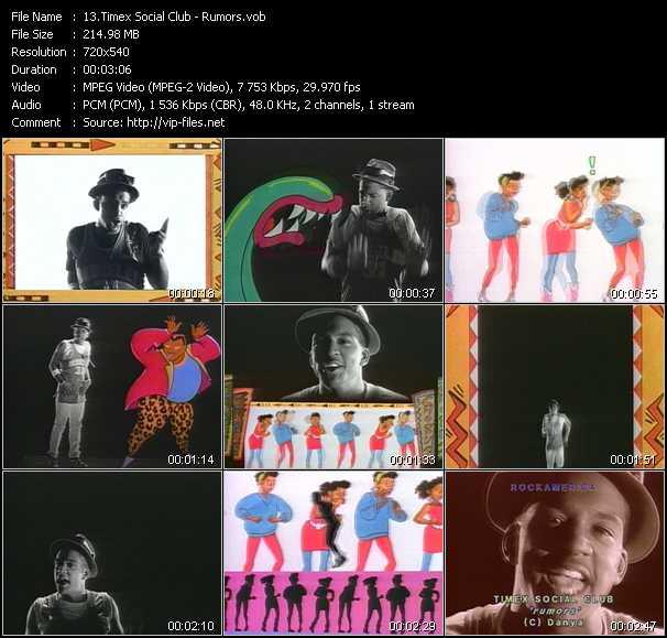 Screenshot of Music Video Timex Social Club - Rumors