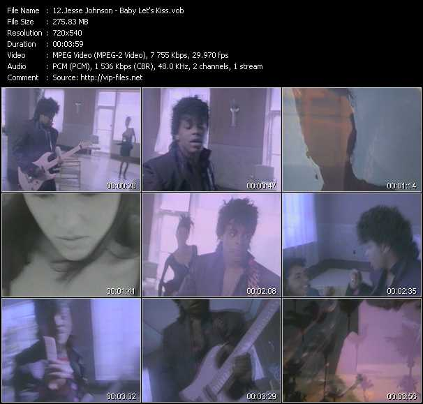 Screenshot of Music Video Jesse Johnson - Baby Let's Kiss