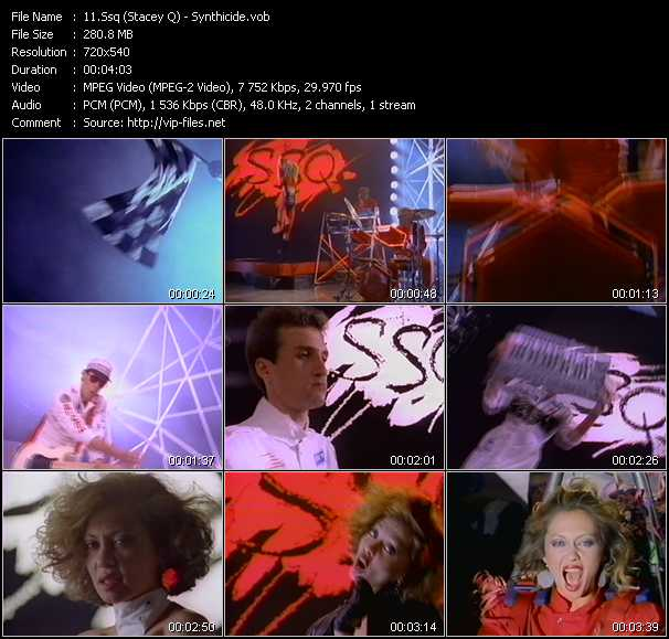 Screenshot of Music Video Ssq (Stacey Q) - Synthicide