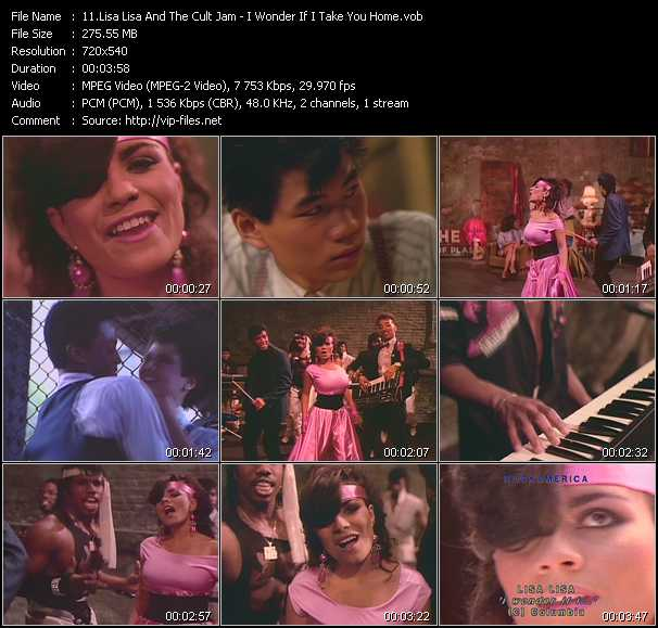 Screenshot of Music Video Lisa Lisa And Cult Jam - I Wonder If I Take You Home