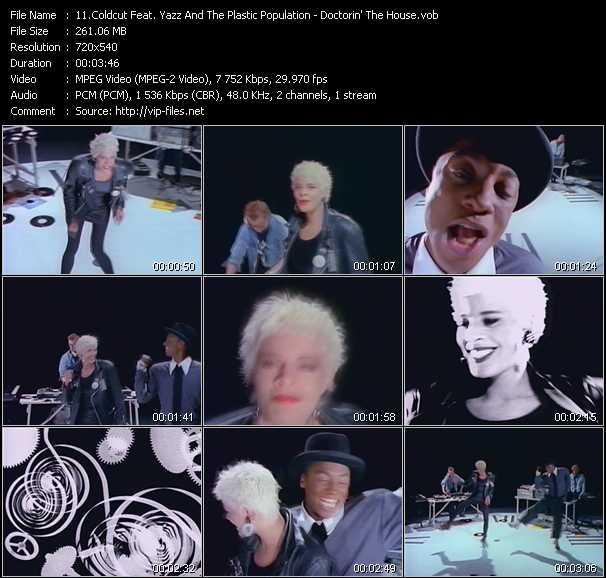 Screenshot of Music Video Coldcut Feat. Yazz And The Plastic Population - Doctorin' The House