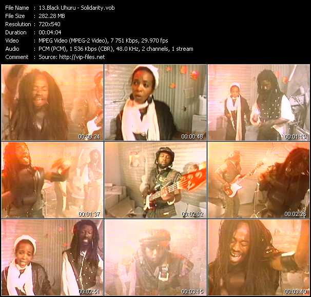 Screenshot of Music Video Black Uhuru - Solidarity