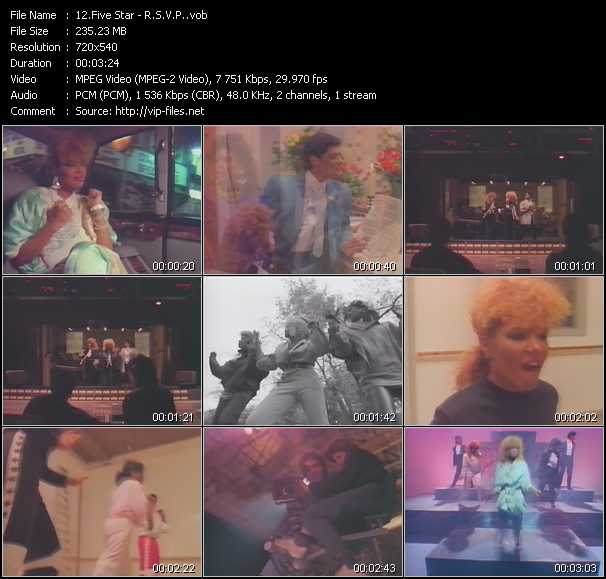 Screenshot of Music Video Five Star - R.S.V.P.