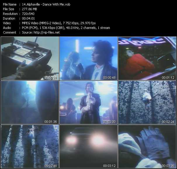 Screenshot of Music Video Alphaville - Dance With Me