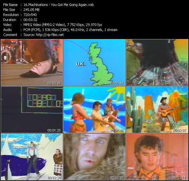 Screenshot of Music Video Machinations - You Got Me Going Again