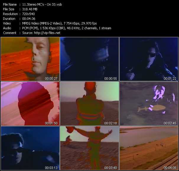 Screenshot of Music Video Stereo MC's - On 33
