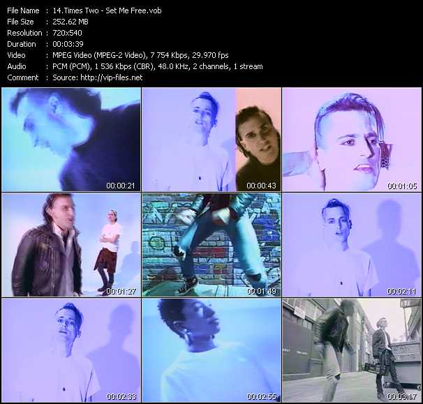 Screenshot of Music Video Times Two - Set Me Free