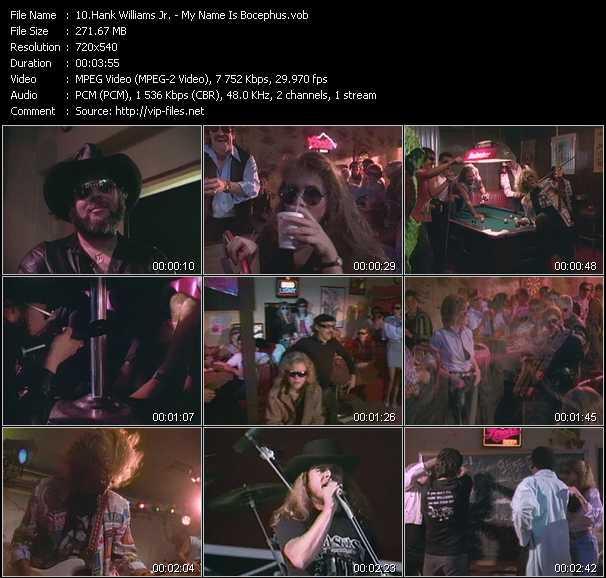 Screenshot of Music Video Hank Williams Jr. - My Name Is Bocephus