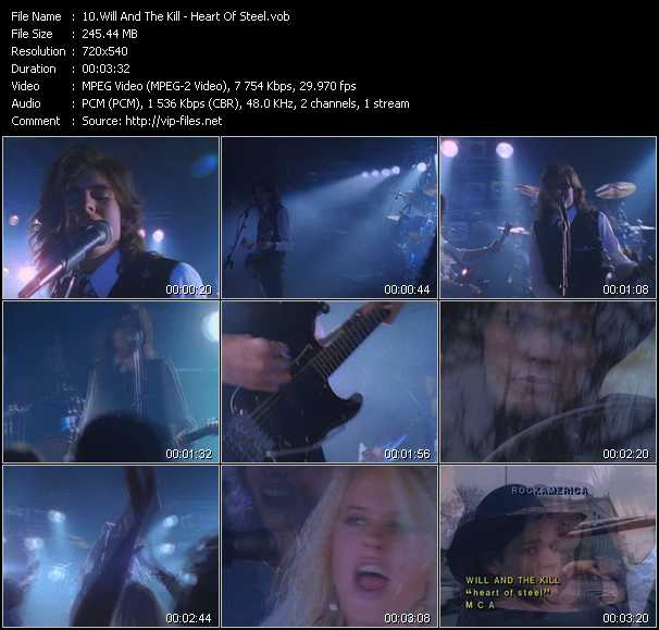Screenshot of Music Video Will And The Kill - Heart Of Steel