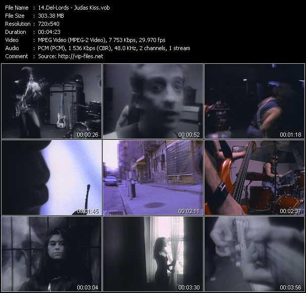 Screenshot of Music Video Del-Lords - Judas Kiss
