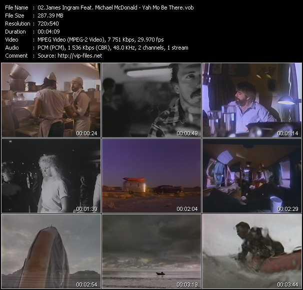 Screenshot of Music Video James Ingram Feat. Michael McDonald - Yah Mo Be There