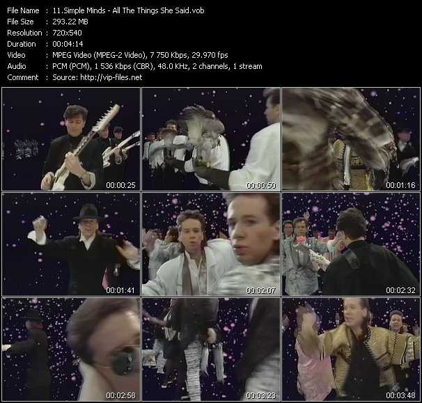 Simple Minds video vob