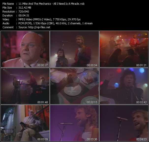 Mike And The Mechanics video vob