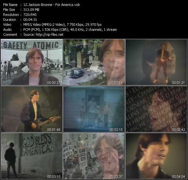Jackson Browne video vob