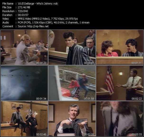 Screenshot of Music Video El DeBarge - Who's Johnny?