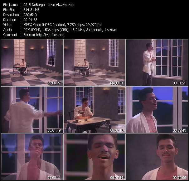 Screenshot of Music Video El DeBarge - Love Always