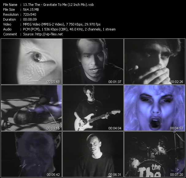 Screenshot of Music Video The The - Gravitate To Me (12 Inch Mix)