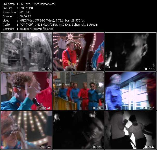Devo disco dancer download music video clip from vob for 1988 dance hits