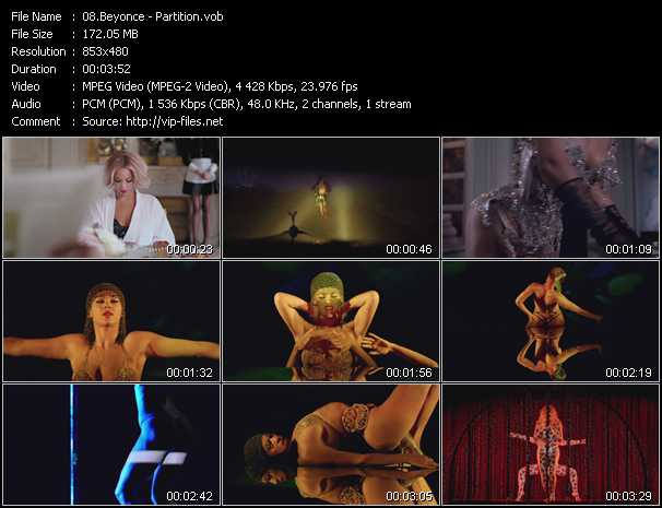 Screenshot of Music Video Beyonce - Partition