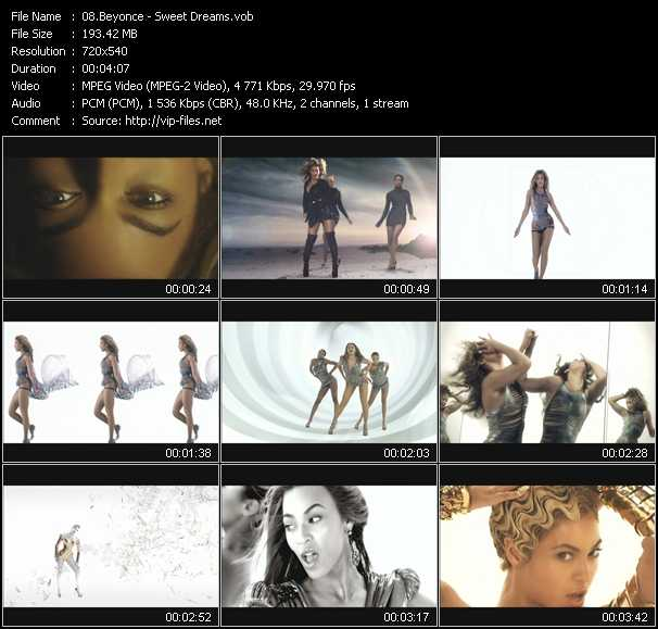 Screenshot of Music Video Beyonce - Sweet Dreams