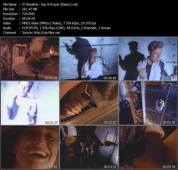 Screenshot of Music Video Breathe - Say A Prayer (Remix)