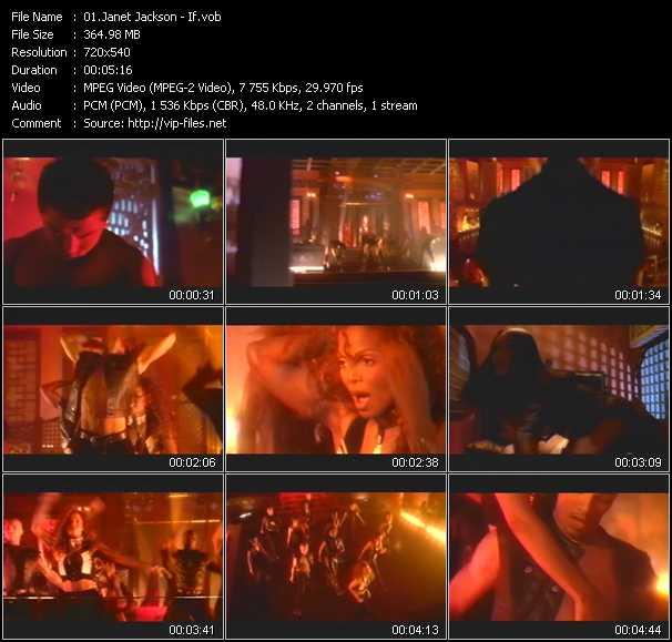 Janet Jackson video vob