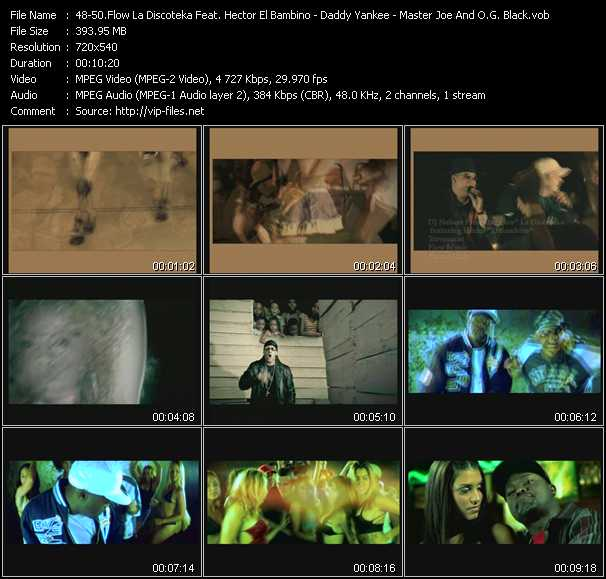 Screenshot of Music Video Dj Nelson Pres. Flow La Discoteka Feat. Hector El Bambino - Daddy Yankee - Master Joe And O.G. Black - Travesuras - Gasolina (PO Exclusive Edit) - Banshee Robao