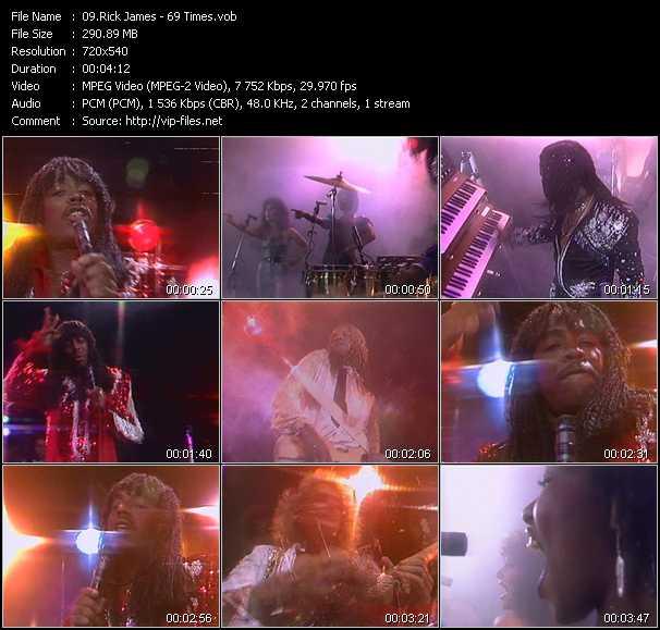 Screenshot of Music Video Rick James - 69 Times