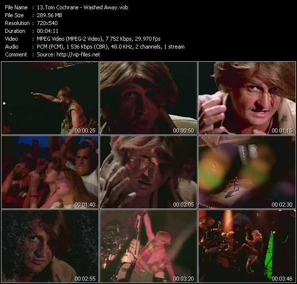 Screenshot of Music Video Tom Cochrane - Washed Away