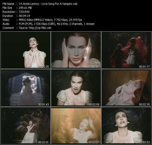 Screenshot of Music Video Annie Lennox - Love Song For A Vampire
