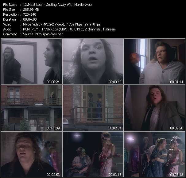 Screenshot of Music Video Meat Loaf - Getting Away With Murder