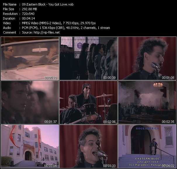 Screenshot of Music Video Eastern Block - You Got Love